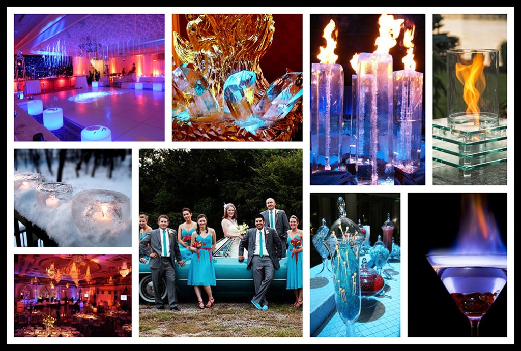 Fire And Ice Collage Inspiration